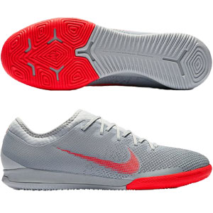 Nike VaporX 12 Pro IC - Wolf Grey/Bright Crimson Indoor AH7387-060