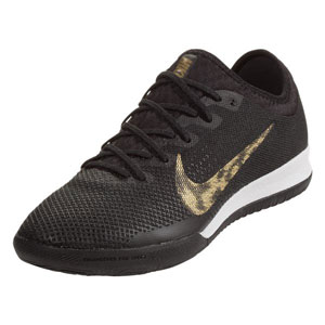 Nike VaporX 12 Pro IC - Black/Metallic Gold/White Indoor AH7387-077