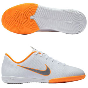 Nike Junior Vapor X 12 Academy IC - White/Total Orange Indoor AJ3101-107