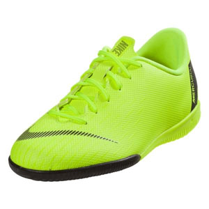 Nike Junior Vapor X 12 Academy IC - Volt/Black Indoor AJ3101-701