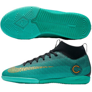 Nike Junior Mercurial Victory VI CR7 IC - Clear Jade/Black Indoor AJ3110-390