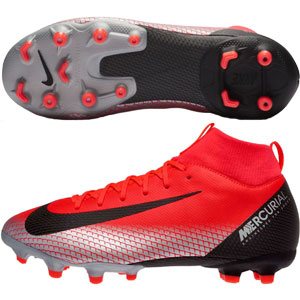 Nike Junior Mercurial SuperFly VI Academy CR7 MG - Bright Crimson/Chrome/Black AJ3111-600
