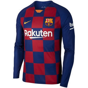 Nike Barcelona Home Long Sleeve Jersey 2019-2020 AJ5673-457