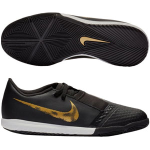Nike Junior Phantom Venom Academy IC - Black/Metallic Vivid Gold Indoor AO0372-077