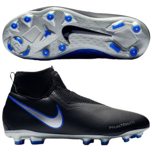 Nike Junior Phantom Vision Academy DF MG - Black/Metallic Silver/Racer Blue AO3287-004