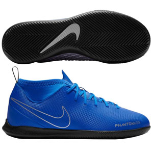 Nike Junior Phantom Vision Club DF IC - Racer Blue/Metallic Silver Indoor AO3293-400