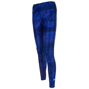 Nike USWNT Women's 7/8 Power Tights  - Bright Blue AR8564-443