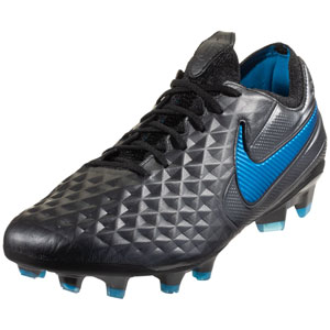 Nike Tiempo Legend VIII Elite FG - Black/Blue Hero AT5293-004