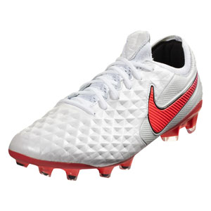 Nike Tiempo Legend VIII Elite FG -  White/Flash Crimson AT5293-163