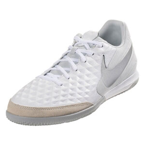 Nike Tiempo Legend VIII Academy IC - White/Pure Platinum/Metallic Silver Indoor AT6099-100