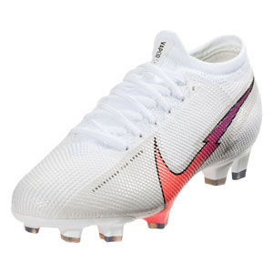 Nike Mercurial Vapor 13 Pro FG - White//Hyper Jade/Flash Crimson AT7901-163
