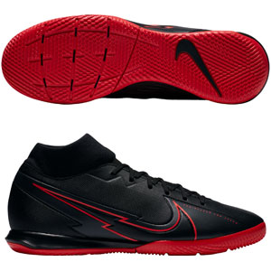 Nike Mercurial Superfly VII Academy IC - Black/Chile Red Indoor AT7975-060