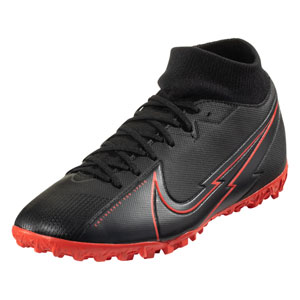Nike Mercurial Superfly 7 Academy TF - Black/Red Turf AT7978-060