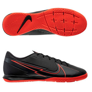 Nike Mercurial Vapor 13 Academy IC - Black/Red Indoor AT7993-060