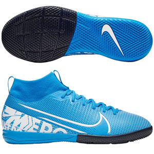 Nike Junior Mercurial Superfly 7 Academy IC - Blue Hero/White Indoor AT8135-414