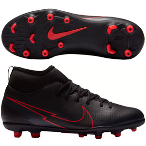 Nike Jr Mercurial Superfly VII Club MG - Black/Red AT8150-060