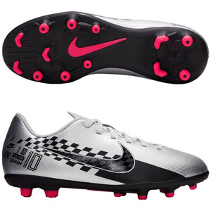 Nike Junior Mercurial Vapor Club 13 Neymar Jr MG - Chrome/Black AT8163-006