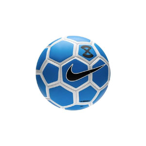 Nike X Menor Futsal Low Bounce Soccer Ball - Racer Blue/Metallic Silver SC3039-410