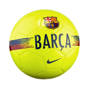 Nike Barcelona Supporter Soccer Ball - Volt/Noble Red/Deep Royal Blue SC3291-702