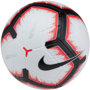 Nike Merlin 5 Official Match Soccer Ball - White/Bright Crimson SC3303-100