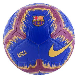Nike Barcelona Strike Soccer Ball - Deep Royal Blue/University Gold/Maroon SC3365-455
