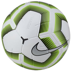 Nike Team NFHS Magia II Soccer Ball - White/Black/Volt SC3537-100