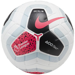 Nike Premier League Merlin Official Match Soccer Ball - : White/Black/Cool Grey/Hot Punch SC3549-100