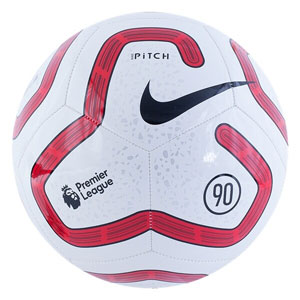 Nike Premier League Pitch Soccer Ball - White/Red SC3569-102
