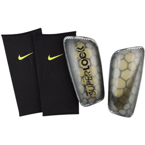 Nike Mercurial Flylite Superlock Shinguard - Anthracite/Opti Yellow - NOCSAE SP2160-060