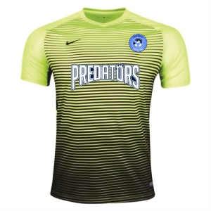 PBG Predators Nike Youth Precision IV Goalkeeping Jersey - Volt/Black 886830-702-PRED