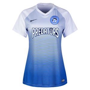 PBG Predators Nike Women's Precision IV Jersey - White/Game Royal/Black PRED-886829-100