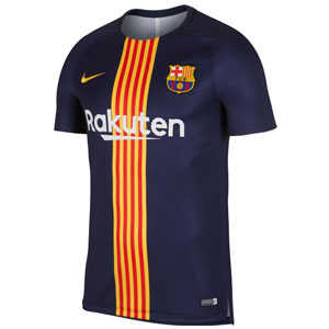 Nike Barcelona Squad Training Top 2018 - Obsidian/University Gold 894323-411