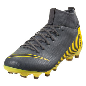 Nike Junior Mercurial SuperFly VI Academy MG - Dark Grey/Yellow AH7337-070