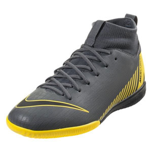 Nike Junior SuperflyX Academy VI DF IC - Dark Grey/Yellow Indoor AH7343-070
