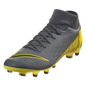 df0bf813d Nike Mercurial SuperFly VI Academy MG - Dark Grey Yellow AH7362-070
