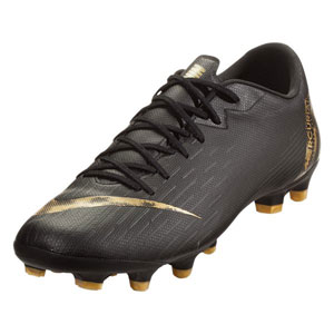 Nike Vapor 12 Academy MG - Black/Metallic Vivid Gold AH7375-077