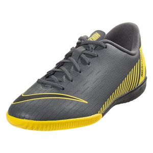Nike Junior Vapor X 12 Academy IC - Dark Grey/Yellow Indoor AJ3101-070