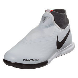Nike Junior Phantom Vision Academy DF IC - Pure Platinum/Black Indoor AO3290-060