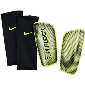 Nike Mercurial Flylite Superlock Shinguard - Volt/Black - NOCSAE SP2160-702