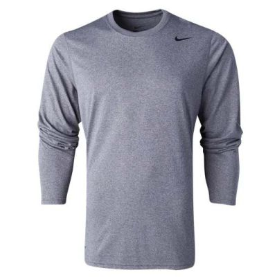 Nike Youth Team Legend Long Sleeve Top - Carbon Heather/Black 840177-091