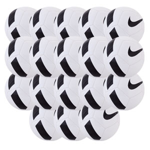 Nike AC Delray Pitch Team Soccer Ball - White/Black - 18 Pack SC3166-100-18P-AC