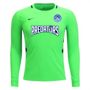 PBG Predators Nike Youth Long Sleeve Park Goalie III Jersey - Green Strike PBG-894517-398