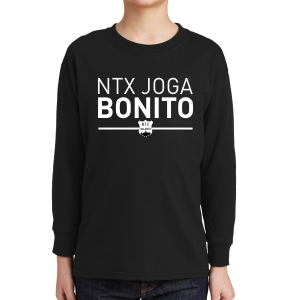 NXT Joga Bonito Youth Long Sleeve T-Shirt - Black NXT-5400B