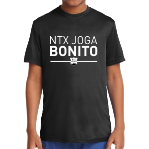 NXT Joga Bonito Youth Short Sleeve Performance Shirt - Black NXT-YST350