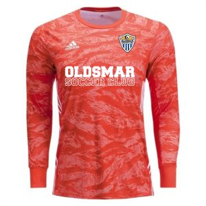 Oldsmar Soccer club adidas adiPro 19 Goalkeeper Jersey - Semi Solar Red OLD-DP3136