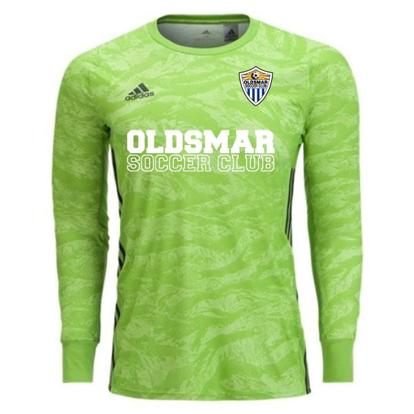 Oldsmar Soccer Club adidas adiPro 19 Goalkeeper Jersey - Semi Solar Green OLD-DP3137