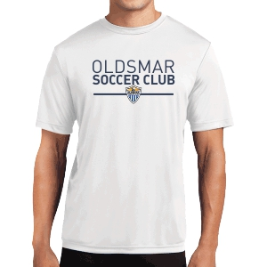 Oldsmar Soccer Club Short Sleeve Performance Shirt - White ST350-OSCWhi