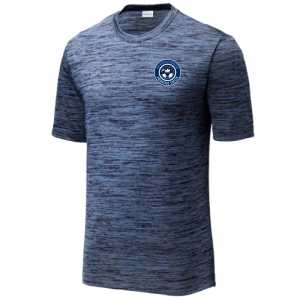 PBG Predators Club Heather Performance Shirt - Carolina Blue/True Navy/Black ST390-PBG