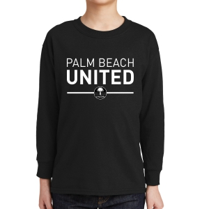 Palm Beach United Youth Long Sleeve T-Shirt - Black PBU-5400B