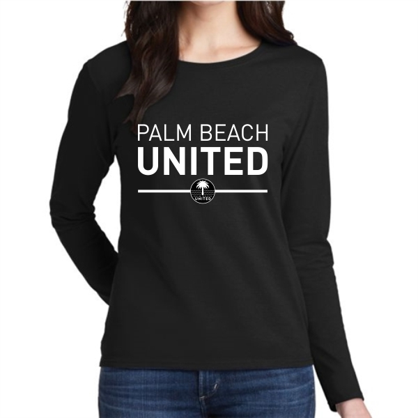 9792ad7a7d0a Palm Beach United Women's Long Sleeve T-Shirt - Black - AuthenticSoccer.com